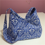 Handbag - blue & white