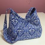 Handbag - blue & white