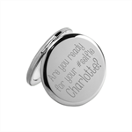 Instant Selfie Personalised engraved compact mirror