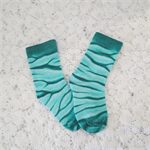 Hand Painted  Cotton/Polyester Socks - Green Size 2-3 yrs.