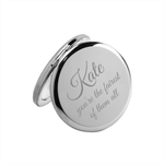 Who's the Fairest of them all? Personalised engraved compact mirror - Christmas