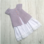 Lily Cardigan - Size 0(generous sizing) - Hand Knitted