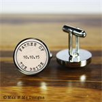 Father of the Bride - Personalised stainless steel wedding cufflinks