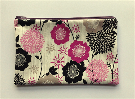 Purple Floral Pencil Case