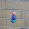 Pastel pendant necklace, polymer clay, handmade pastel necklace, FREE postage