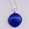 Blue Mini Fused Glass Pendant