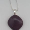 Purple Mini Fused Glass Pendant