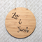 Personalised Wooden Bamboo Door / Wall hanging - Two Names