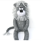 'Levi' the Sock Lion - dark grey with light grey spots - *READY TO POST*