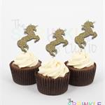 Unicorn Glitter Cupcake Toppers ~ set 12 ~