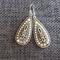 Silver Patterned Tear Drop Earrings