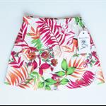 Girls Skirt - Fern Leaves - Red and Orange