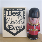 Personalised Fathers Day Pennant Papercut on Wood