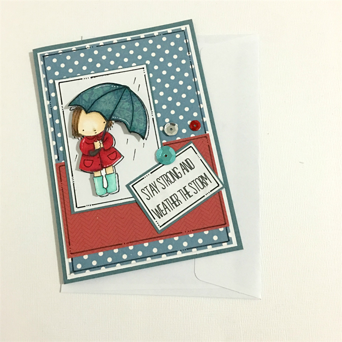 get well soon card  encouragement card  stay strong