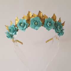 Gold Leaf Crown,Crown,Fascinator,Tiara