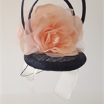 Blue and Pink Fascinator Headpiece