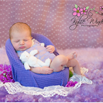 Stretch Lace Newborn Romper / Baby Girl Newborn Photography Prop / Lavender