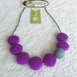 Basic Love - Purple Rain silicone teething necklace