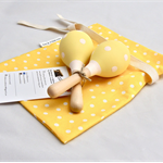 Yellow Baby Rattle / Baby Toy / Baby Maraca / Wooden Toy