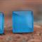 Glass tile stud earring (sky blue)