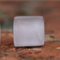 Glass tile stud earring (pale pink)
