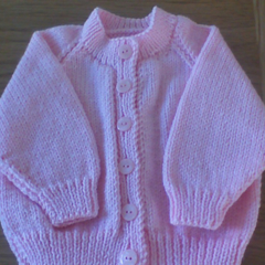 Baby Girls Pink Cardigan to fit size 3 to 6 months.