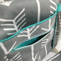NEW Grey an White Arrow Nappy Bag with Insulated Bottle Pockets on Side
