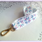 Ladies Lanyard, Feather Print, Gold Clip, Keyring, ID Badge Holder