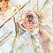 Fabric Brooch Corsage  Shabby vintage chic Wedding! Flower Girl