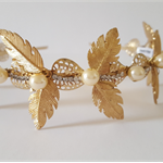 Gold leaf crown,Fascinator, limited edition,Bridal Headpiece
