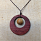 Gemstone & Jarrah Circle Pendant #G6