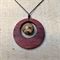Gemstone & Jarrah Circle Pendant #G4