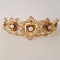 RHEA Gold Crown Tiara,  Gold Leaf Headpiece