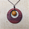 Gemstone & Jarrah Circle Pendant #G8