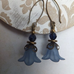 Slate Blue with Midnight Swarovski Earrings