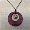 Gemstone & Jarrah Circle Pendant #G2