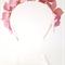 Pink Headband, Leather Flower Headpiece, Wedding Fascinator