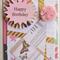Birthday Card, Party Hat with Pink Pom-Pom