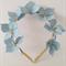 CELESTE Light Blue Headband, Leather Flower Headpiece, Wedding Fascinator