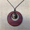 Gemstone & Jarrah Circle Pendant #G1
