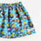 Retro Rainbow Girl Blue Skirt size 1,2,3,4,5