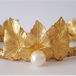 CLAIRE Gold Crown Tiara