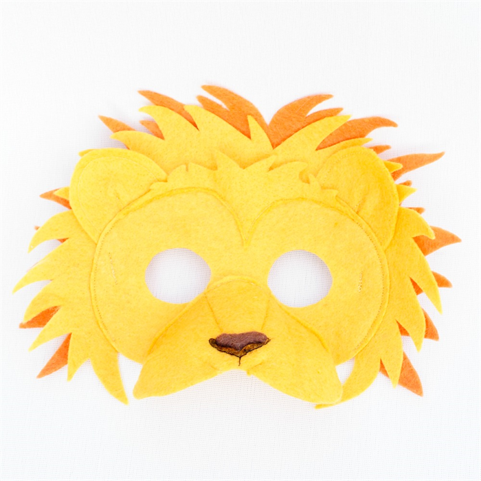 how to make a 3d lion mask