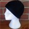 Black Adult Hand Knit Cable Beanie. 100% Wool