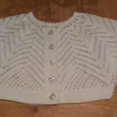 White Baby Snuggle Jacket & Booties to fit size 0 to 3 months