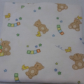 Flannelette wrap / swaddle / receiving blanket, pack of three. Teddy Bears.