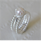 Freshwater Pearl & Sterling Silver Crown Stacking Ring set.
