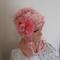 Pink Beanie Ear flap hat Hand Spun Hand Knit