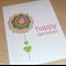 Female Happy Birthday card - flower