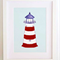 Childrens wall art - Lighthouse, Nursery art print, art for boys, kids art print